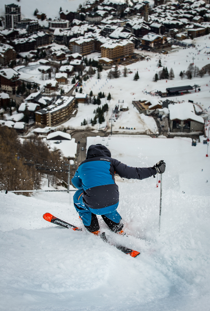 skiing in val disere and tignes